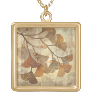 Gingko Gold Plated Necklace
