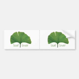 Gingko Leaf Bumper Sticker