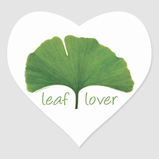 Gingko Leaf Heart Sticker