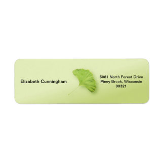 Gingko Leaf Return Address Label