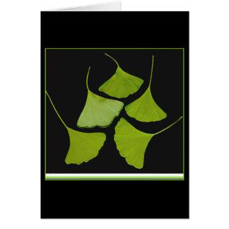 gingko leaves card