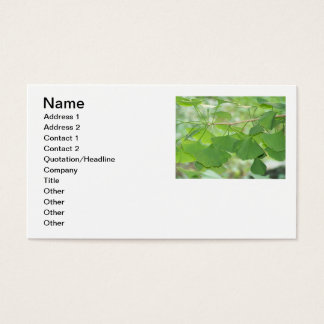 Gingko leaves on business card