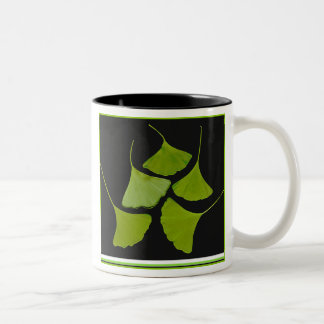 gingko leaves Two-Tone coffee mug
