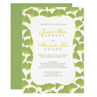 Gingko Tree Spring Green wedding 2 Card
