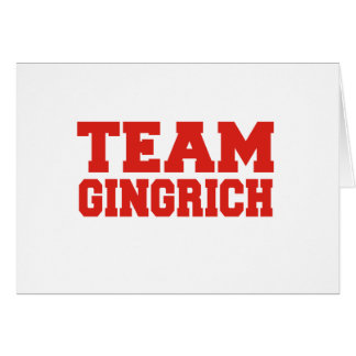 GINGRICH 2012 GREETING CARD