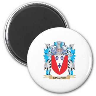 Gingrich Coat of Arms - Family Crest Refrigerator Magnet