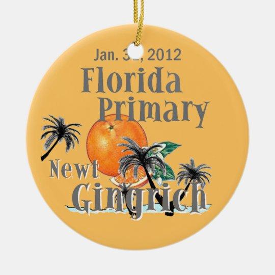 Gingrich Florida Ornament