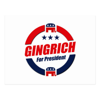 GINGRICH FOR PRESIDENT (Republican) Postcard
