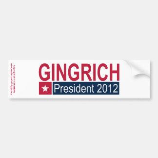 Gingrich President 2012 Car Bumper Sticker