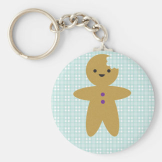 Gingy Basic Round Button Key Ring