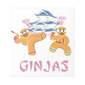 Ginjas Ninjas Christmas Ninja Gingerbread Notepad