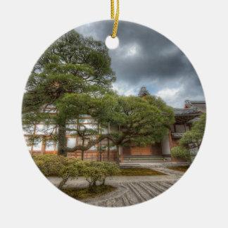 Ginkaku-ji Silver Temple, Kyoto Japan Round Ceramic Decoration