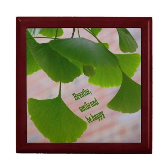 Ginkgo Biloba Leaf Gift Box