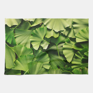 ginkgo biloba tree leaf nature plant texture tea towel
