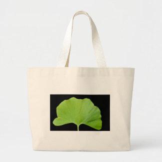 Ginkgo (Ginkgo biloba) leaf Large Tote Bag