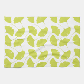 Ginkgo Ginko Biloba Green Leaves Towel