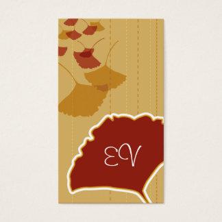 Ginkgo Leaf Biz Card