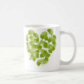 Ginkgo Leaf Heart Coffee Mug