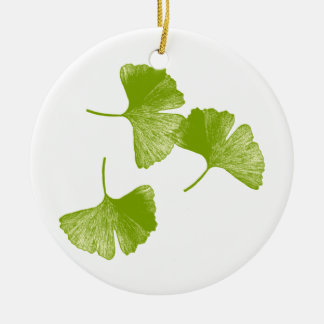 Ginkgo Leaves Christmas Ornament
