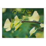 Ginkgo Leaves Get-Well Greeting Card