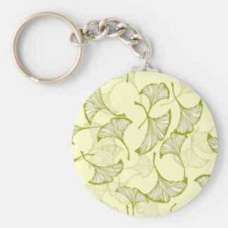 Ginkgo Leaves Key Ring
