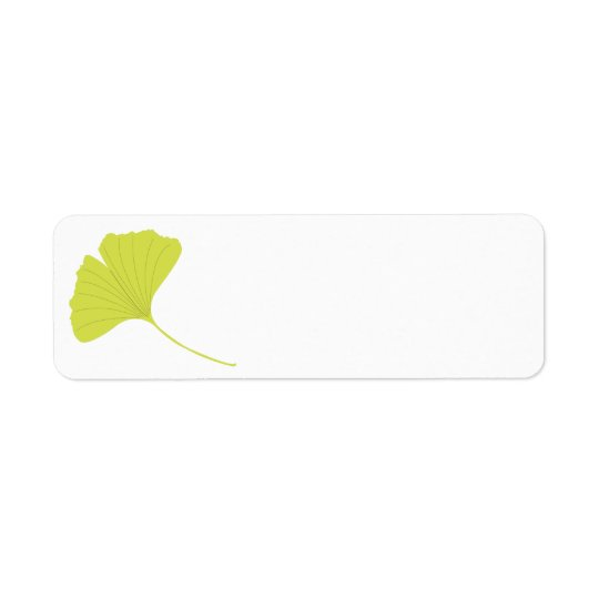 Ginkgo Return Address Label