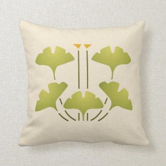 Ginkgo Stencil Throw Pillow