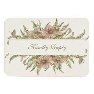Ginkgo Watercolor Floral Wedding RSVP Card