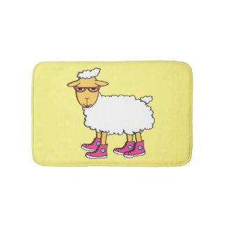 Ginny the sheep bath mats