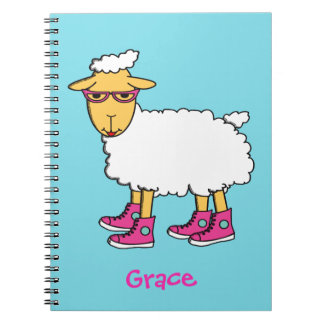 Ginny the sheep notebook