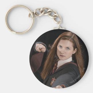 Ginny Weasley Basic Round Button Key Ring