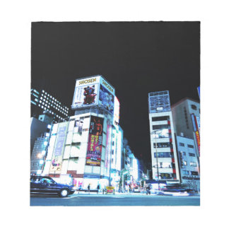 Ginza district in Tokyo, Japan at night Notepad
