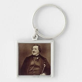 Gioacchino Rossini (1792-1868) from 'Galerie Conte Silver-Colored Square Key Ring
