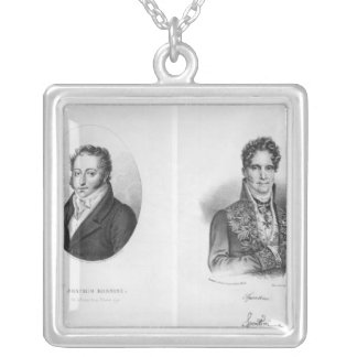 Gioacchino Rossini Gaspare engraved by Silver Plated Necklace