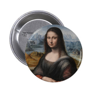 "Gioconda ""of the Prado Museum"" - da Vinci (1510-15 6 Cm Round Badge"