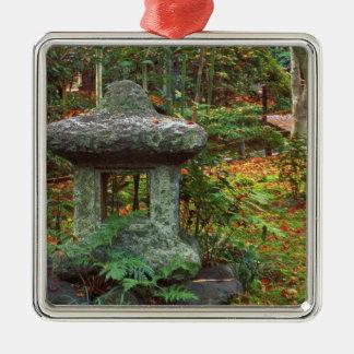 Giohji Temple, Arashiyama, Kyoto, Japan Silver-Colored Square Decoration