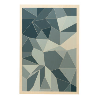 Giometric diamond shaded blue pattern wood canvases