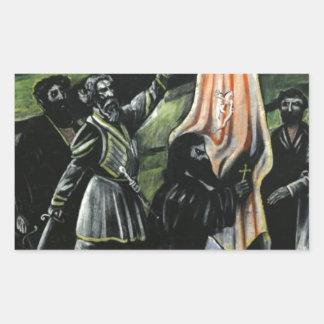 Giorgi Saakadze defending Georgia from enemies Rectangular Sticker