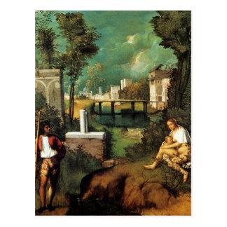 Giorgione The Tempest Postcard
