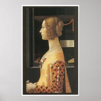 Giovanna degli Albizzi Tornabuoni, c. 1488 Poster