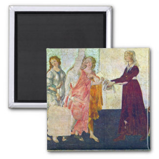 Giovanna degli Albizzi with Venus and the Graces b Square Magnet
