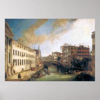 Giovanni Antonio Canal-The River of Mendicanti Poster