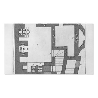 Giovanni Battista Piranesi-Entry of burial chamber Double-Sided Standard Business Cards (Pack Of 100)