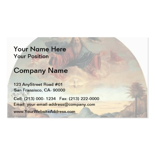Giovanni Bellini- Baptism of Christ, Altarpiece Business Cards