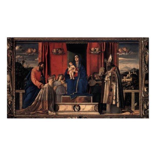 Giovanni Bellini- Barbarigo Altarpiece Business Card Templates