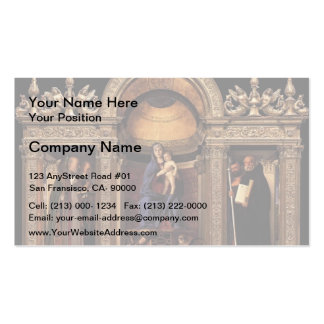 Giovanni Bellini- Frari Triptych Pack Of Standard Business Cards