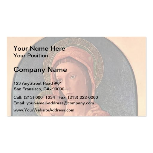 Giovanni Bellini- Madonna and Child Business Card Template