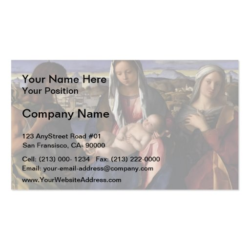 Giovanni Bellini- Madonna and Child with St.John Business Card Templates