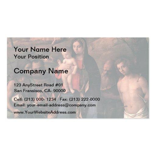Giovanni Bellini- Madonna,Child,Saints & a Donor Business Card
