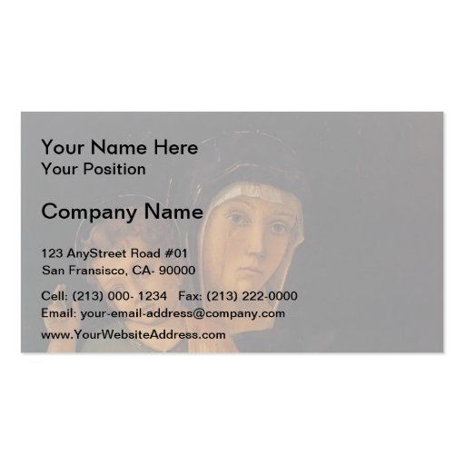 Giovanni Bellini- Madonna with Child Blessing Business Cards